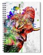 Elephant Colored Grunge Spiral Notebook