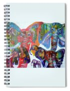 Elephant Family Spiral Notebook