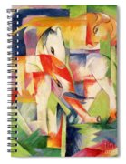 Elephant Horse And Cow Spiral Notebook