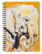 Elephant Orange Spiral Notebook