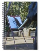 Elephant Painting Spiral Notebook