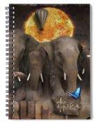 Elephant Run Spiral Notebook
