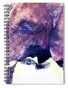 Elephant Watercolor Painting Spiral Notebook