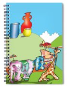 Elephants And Urns On A Hill Spiral Notebook