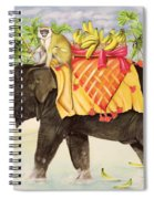 Elephants With Bananas Spiral Notebook
