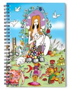 Elephants,cats And Rabbit Dreams Spiral Notebook