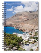 Elevated View Of The Hora Sfakion Spiral Notebook