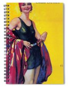 Elida Cremes In Sonne Und See - Woman In Swimsuit - Vintage Advertising Poster Spiral Notebook