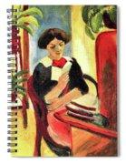 Elisabeth At Her Desk 2 By August Macke Spiral Notebook