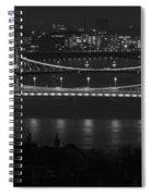 Elizabeth And Liberty Bridges Budapest Bw Spiral Notebook
