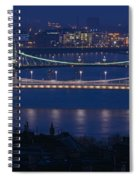 Elizabeth And Liberty Bridges Budapest Spiral Notebook
