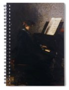 Elizabeth At The Piano Spiral Notebook