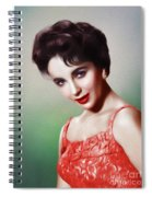 Elizabeth Taylor, Vintage Movie Star Spiral Notebook