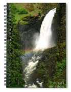 Elk Creek Falls Rainbow Spiral Notebook