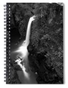 Elk Falls In The Canyon Black And White Spiral Notebook