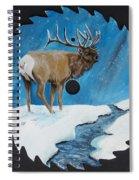 Elk In Snow Spiral Notebook