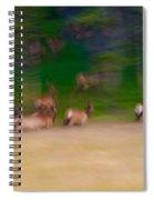Elk On The Run Spiral Notebook