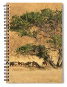 Elk Under Tree Spiral Notebook
