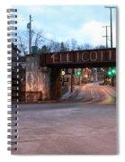 Ellicott City Nights - Entrance To Main Street Spiral Notebook