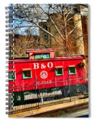 Ellicott City Train And Factory Spiral Notebook