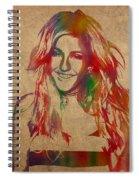 Ellie Goulding Watercolor Portrait Spiral Notebook