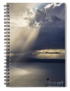 Elliott Bay Storm Clouds Ferry Spiral Notebook