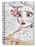 Elsa Art Pearlesqued In Fragments  Spiral Notebook