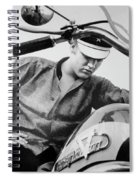 Elvis And His Bike Bw Spiral Notebook