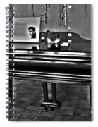 Elvis And The Black Piano ... Spiral Notebook