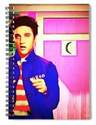 Elvis Has Left The House 20151225 Square Spiral Notebook