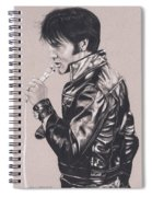 Elvis In Charcoal #177, No Title Spiral Notebook