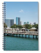 Embarcadero Marina Park South Pier Close Up Spiral Notebook