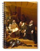 Embarkation Of The Pilgrims Spiral Notebook