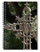 Embellished Cross Spiral Notebook