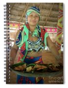 Embera Indian Lady Serving A Meal Spiral Notebook