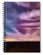 Embers Of A Fading Sunset Spiral Notebook