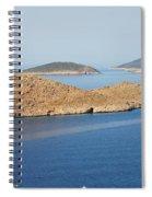 Emborio Harbour On Halki Island Spiral Notebook