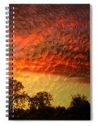Embossed Sunrise Spiral Notebook