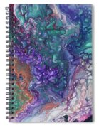 Emerald And Amethyst. Abstract Fluid Acrylic Painting Spiral Notebook