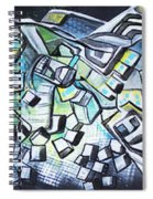 Emerald Chasms Spiral Notebook