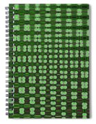 Emerald Green And Oak Stump Abstract Spiral Notebook