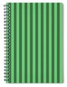 Emerald Green Striped Pattern Design Spiral Notebook