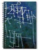 Emerald Green Wall Street Art Spiral Notebook