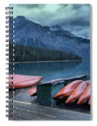 Emerald Lake Canoes Spiral Notebook