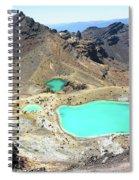 Emerald Lakes, New Zealand. Spiral Notebook