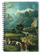 Emigrants Crossing The Plains Spiral Notebook