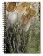 Emily Damask Tulips II Spiral Notebook