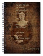 Emily Dickinson 4 Spiral Notebook