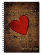 Emily Dickinson Spiral Notebook