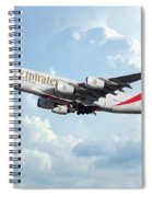 Emirates A380-800 A6-eer Spiral Notebook